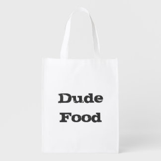 Dude Food Reusable Grocery Bag