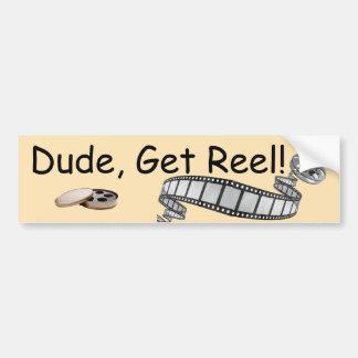 Dude, Get Reel! Bumper Sticker