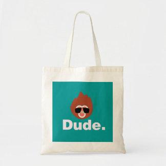 Dude Monkey Tote Bags