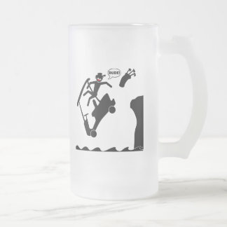 DUDE off the deck-2 Frosted Glass Beer Mug
