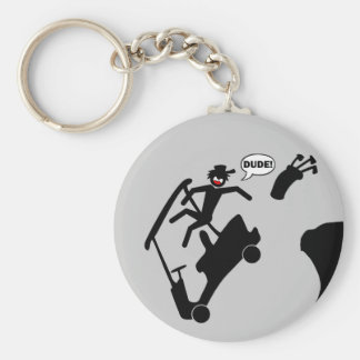 DUDE off the deck-2 Keychain