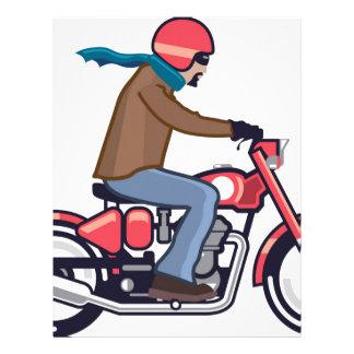 Dude on Motorcycle Letterhead