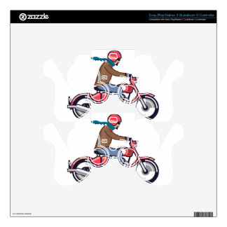 Dude on Motorcycle Skin For PS3 Controller