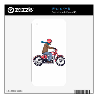 Dude on Motorcycle Skin For The iPhone 4S
