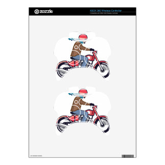 Dude on Motorcycle Xbox 360 Controller Skin