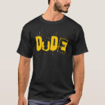 Dude Retro Artwork Men's T-Shirt (dark)