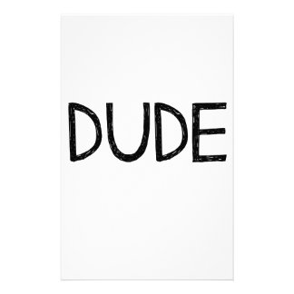 DUDE STATIONERY