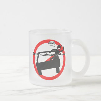 DUDE SUBMARINE! FROSTED GLASS COFFEE MUG