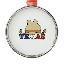 dude texas metal ornament