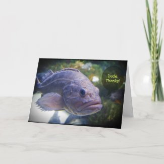 Dude Thanks Fish Thank You Card