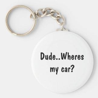 Dude..Wheres my car? Basic Round Button Keychain