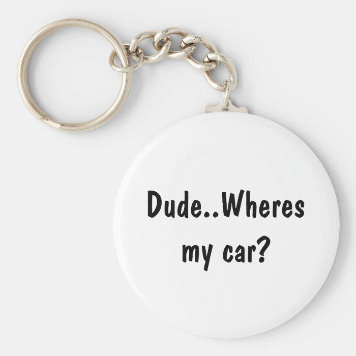 Dude..Wheres my car? Keychain