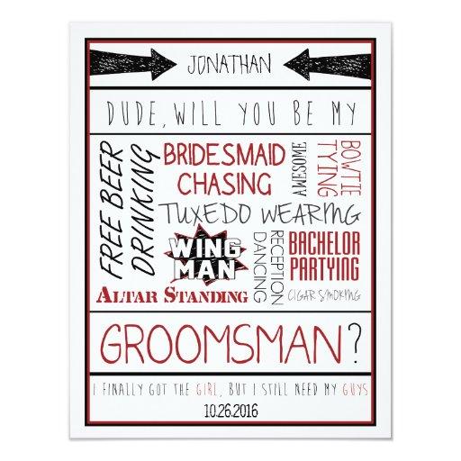 Groomsman Invitation Cards as amazing invitations sample