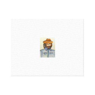 dude with a hat canvas print