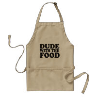 Dude with the food apron