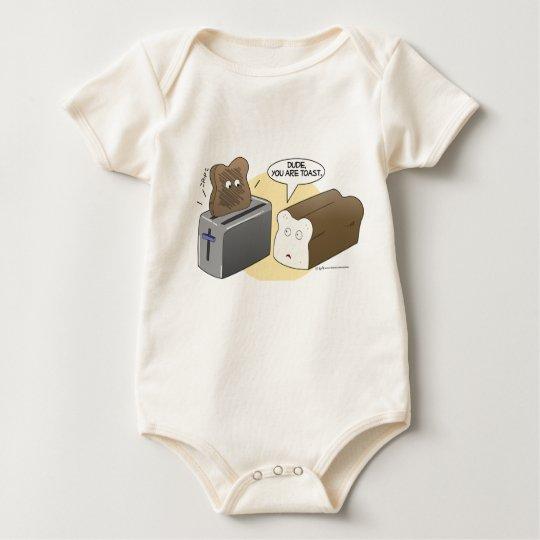 Dude you're toast baby bodysuit