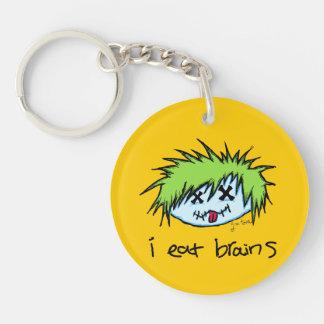 Dude Zombie Keychain
