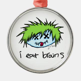 Dude Zombie Metal Ornament