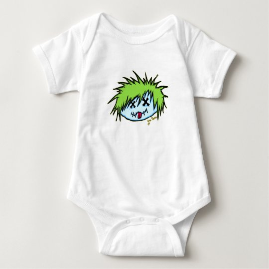 Dude Zombie (on dark background) Baby Bodysuit