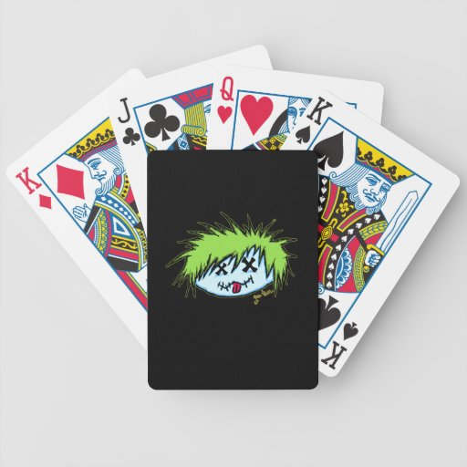 Dude Zombie (on dark background) Playing Cards