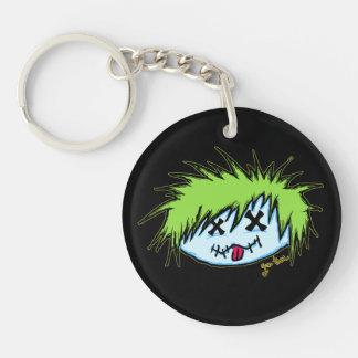 Dude Zombie (on dark background) Single-Sided Round Acrylic Keychain