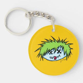 Dude Zombie Single-Sided Round Acrylic Keychain