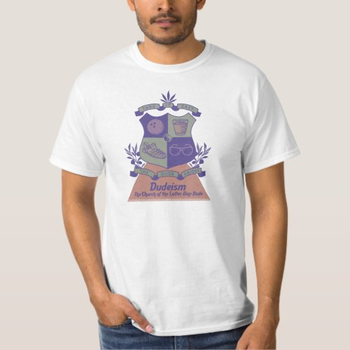 Dudeism Coat of Arms T-Shirt