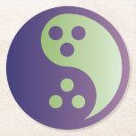 Dudeism Yin Yang Coaster (round)