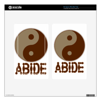 Dudeist Kindle Fire! Kindle Fire Decals