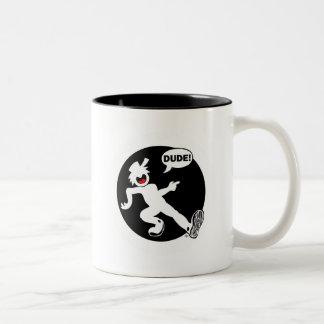 DUDE'N-R1b Mugs, Cups, Mousepads Two-Tone Coffee Mug