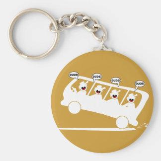 DUDES in transit-1 Keychain
