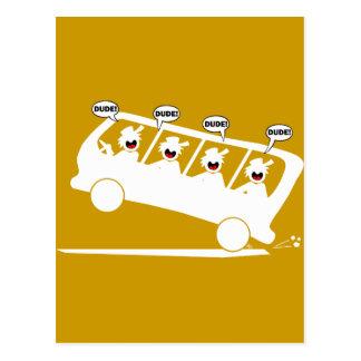DUDES in transit-1 Postcard