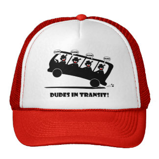 DUDES in transit-2 Hats