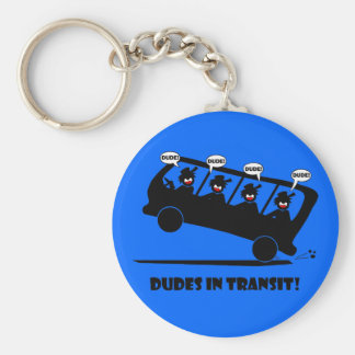 DUDES in transit-2 Key Chains