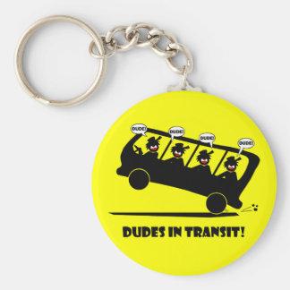 DUDES in transit-2 Keychain