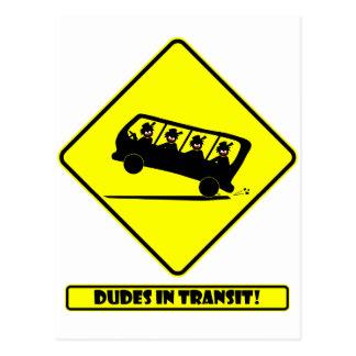 DUDES in transit-4 Postcard