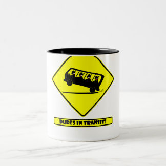 DUDES in transit-4 Two-Tone Coffee Mug