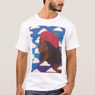 Dude's Raspberry Beret White T T-Shirt