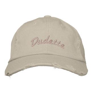 Dudette apenó el casquillo de la tela cruzada del gorra de beisbol bordada