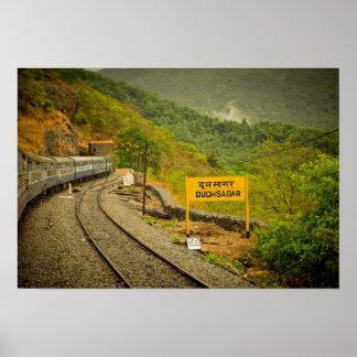 Dudhsagar cae en la manera a Goa Poster