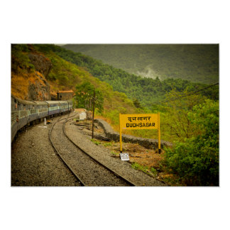 Dudhsagar falls on the way to Goa Posters