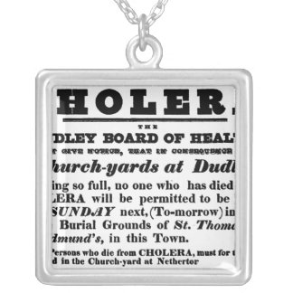 Dudley Board of Health Silver Plated Necklace