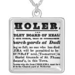 Dudley Board of Health Square Pendant Necklace