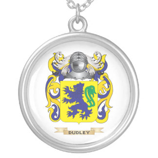 Dudley Coat of Arms Silver Plated Necklace