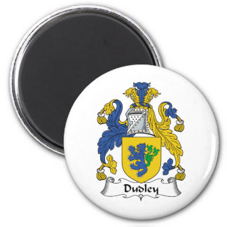 Dudley Family Crest 2 Inch Round Magnet