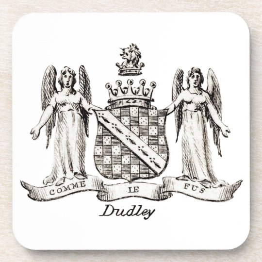 DUDLEY FAMILY CREST DRINK COASTER