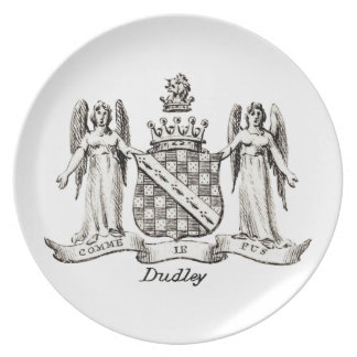 DUDLEY FAMILY CREST - PLATE