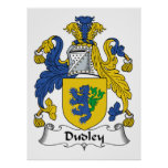 Dudley Family Crest Print