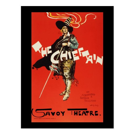Dudley Hardy The Chieftain Savoy Theatre Postcard