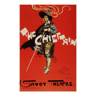 Dudley Hardy The Chieftain Savoy Theatre Poster